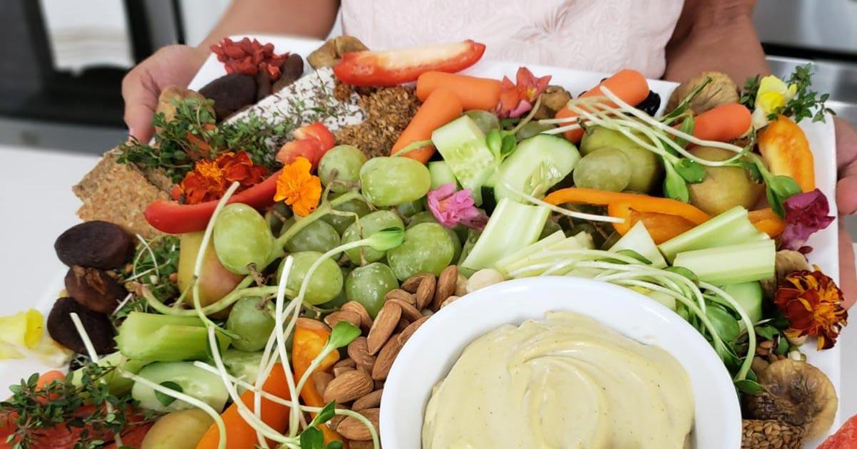 vegan charcuterie platter
