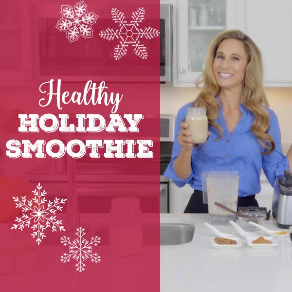 Healthy Holiday Smoothie with Homemade Peanut Butter