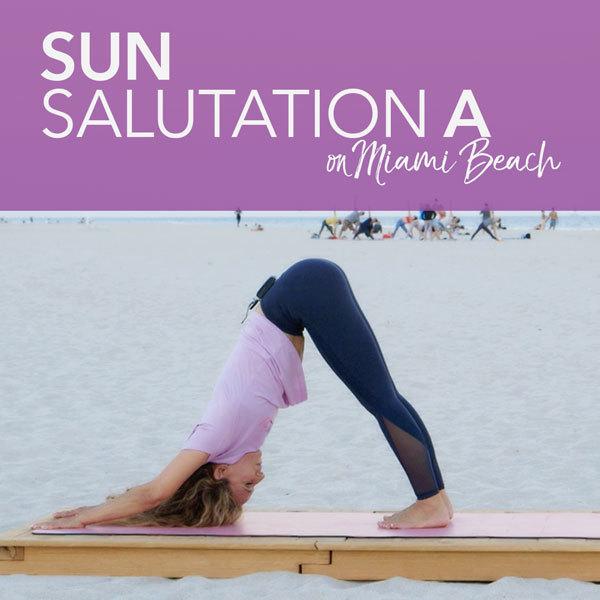 Sun Salutation A on Miami Beach