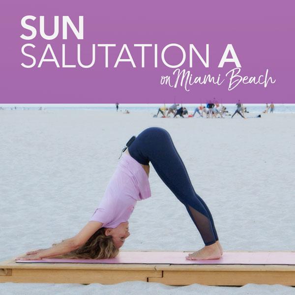 Sun Salutation A on Miami Beach
