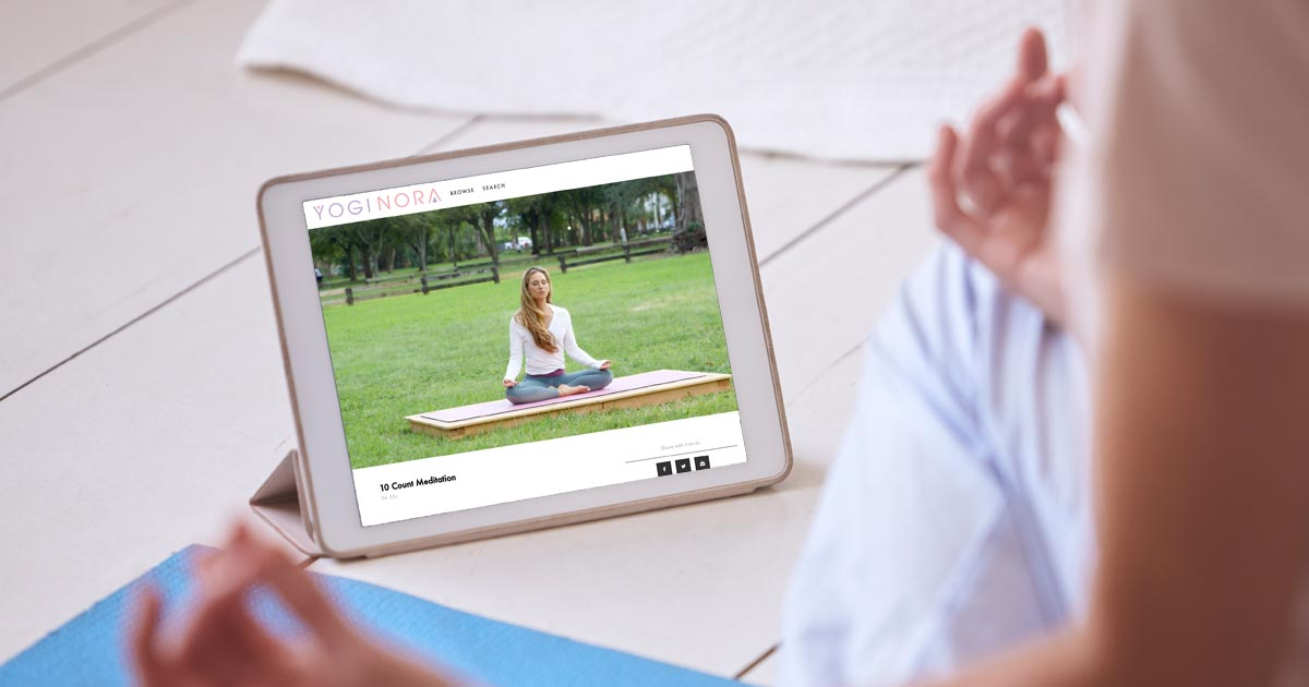 selecting an online yoga class