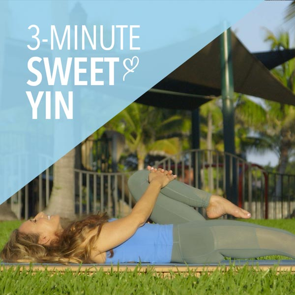 3-Minute Sweet Yin Yoga for Low Back and Hips
